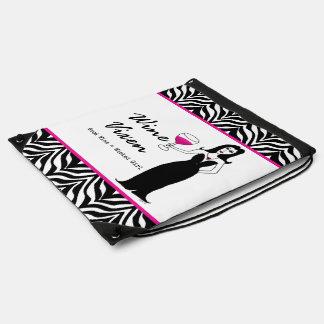 Wine Vixen Wicked Girl Zebra Print Backpacks