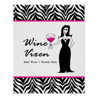 Wine Vixen Wicked Girl Zebra Print