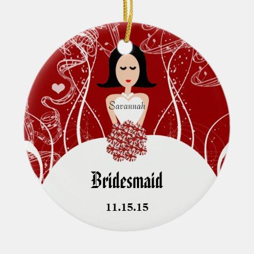 Wine wedding gown bridesmaid christmas ornament zazzle