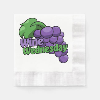 Wine wednesday wine drinkers paper napkin