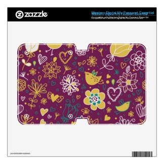 Wine Whimsical Birds and Flowers WD My Passport Skins