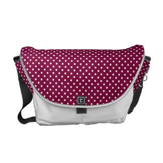 Wine & White polka dot bag