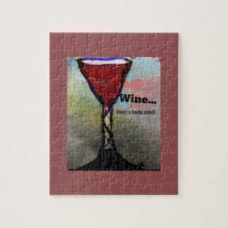 wine, wine and puzzels jigsaw puzzle