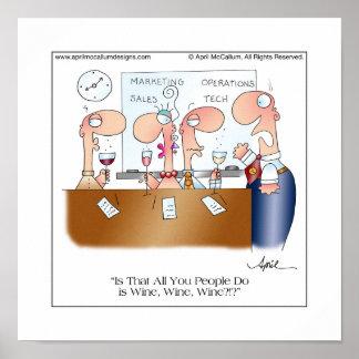 WINE, WINE, WINE Poster by April McCallum