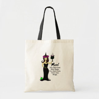 Wine Witch Anti-Valentine's Day Canvas Bags