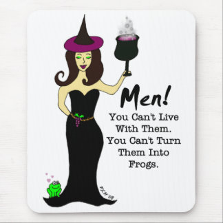 Wine Witch Anti-Valentine's Day Mouse Pad