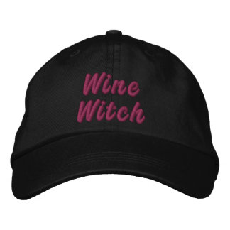 Wine Witch Embroidered Baseball Cap