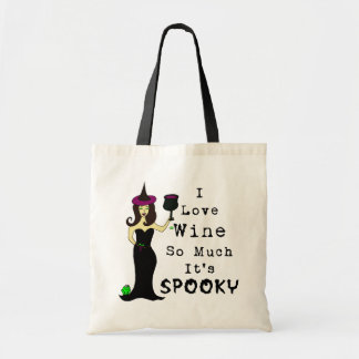Wine Witch I Love Wine So Much It's Spooky Budget Tote Bag