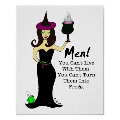 Wine Witch, Men! Posters