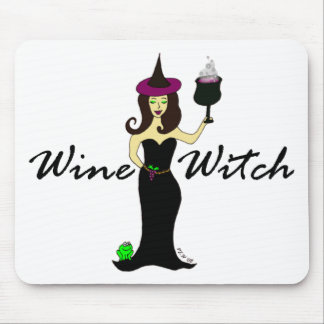 Wine Witch Mouse Pad