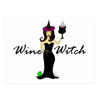 Wine Witch Postcard