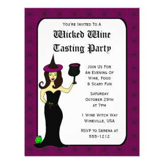 Wine Witch Wicked Wine Tasting Halloween Event Flyer