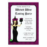 Wine Witch Wicked Wine Tasting Halloween Invites