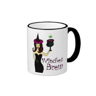 "Wine Witch ""Witches Brew"" Halloween Mug"