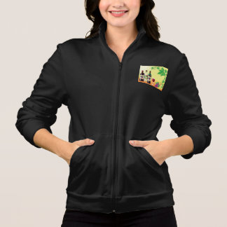 Wine With Grapes Womens Jacket