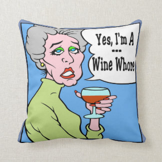 Wine WOMAN Throw Pillow