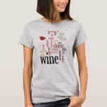 Wine Word Cloud Design T-Shirt