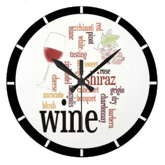 Wine Word Cloud Design Wall Clock