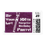 WINE xxh SURPRISE Birthday Party - Zip Your Lip! Stamps