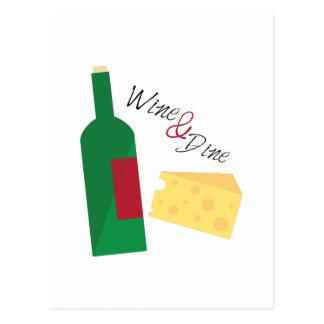 Wine y cene postales