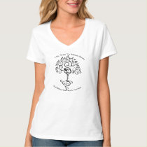 Wine & Yoga V- Neck T shirt