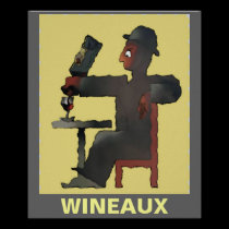 Wineaux, edit text posters