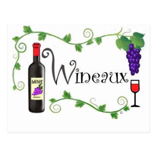 Wineaux Postcard