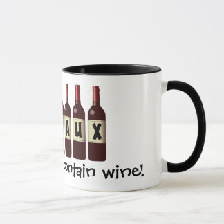 Wineaux Wine Bottles Lineup: May Contain Wine Mug
