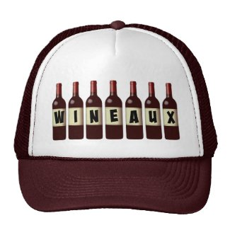 Wineaux Wine Bottles Lineup Trucker Hat