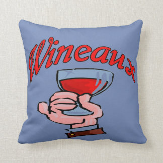 WINEAUX, WINE GLASS THROW PILLOW