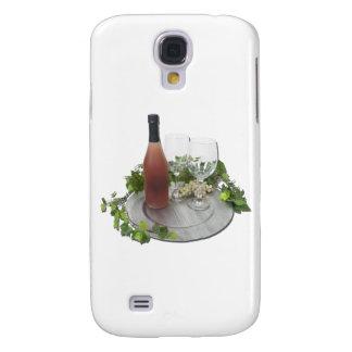 WineBottleGlassesSilverCharger010212 Samsung S4 Case