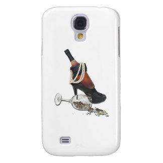 WineBottleHeelsPearlsAndStars010212 Samsung S4 Case