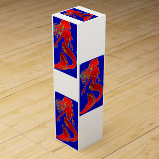 winebox modelo rojo de las sirenas del estilo caja de vino