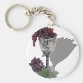 WineChaliceGrapes060910shadows Keychain