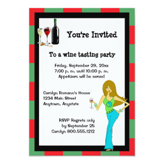 WineDiva Wine Tasting Party Card