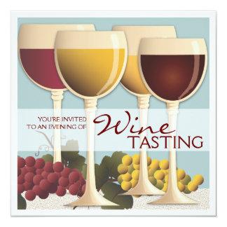 Wineglass & Grapes Wine Tasting Party Invitation