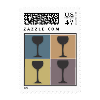 Wineglass Pop kind Wine Themed pos days Stamps