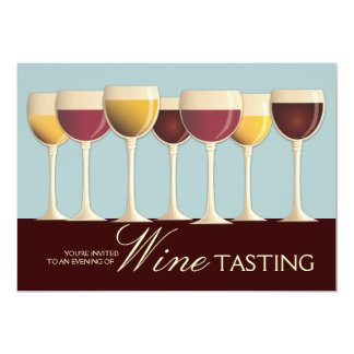 Wineglass Selection Wine Tasting Party Invitation