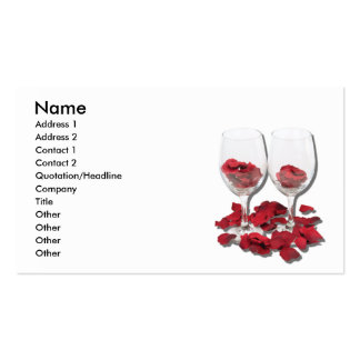 WineGlassesRosePedals, nombre, dirección 1, Tarjetas De Visita