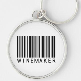 Winemaker Bar Code Keychain