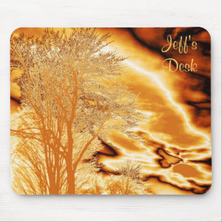 Winer Tree in Molten Gold Mouse Pad