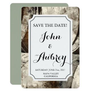 Winery and Vineyard Watercolor Save the Date Card