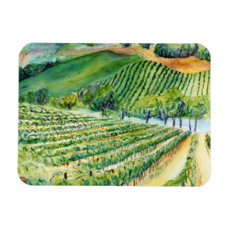 Winery Artwork Vineyard Painting Magnet