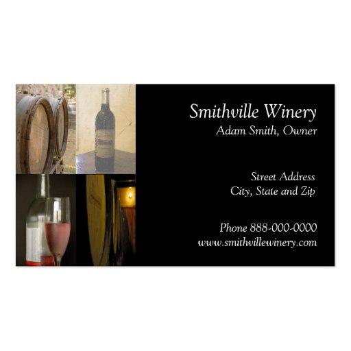Wine barrel business card templates bizcardstudio for Wine business cards