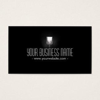 Winery Classy Wine Glass Elegant Dark Business Card