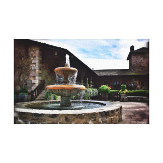 Winery Fountain Canvas Print
