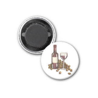 Winery Glass Bottle Red Wine Bar Winery Magnet