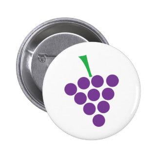 winery grapes logo symbol violet pinback button