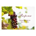 Winery Grapes Vineyard Wedding RSVP Response Card