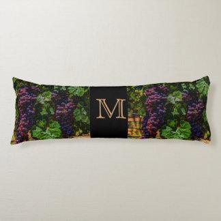 Winery Grapevine sunny tuscany vineyard grapes Body Pillow